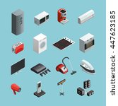 household appliances isometric... | Shutterstock .eps vector #447623185