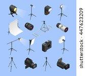 professional photo studio... | Shutterstock .eps vector #447623209