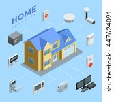 home security company service... | Shutterstock .eps vector #447624091