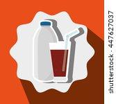 soda bottle and glass isolated... | Shutterstock .eps vector #447627037