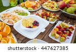 table full of fruit | Shutterstock . vector #447627385