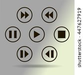 media player control button | Shutterstock .eps vector #447627919