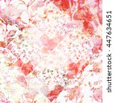 watercolor seamless pattern... | Shutterstock . vector #447634651
