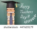 happy teachers day funny concept | Shutterstock . vector #447635179