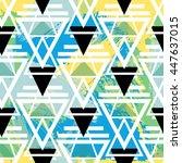 hipster geometric seamless... | Shutterstock .eps vector #447637015