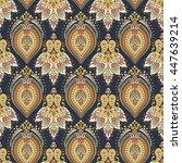 damask style seamless pattern. ... | Shutterstock .eps vector #447639214