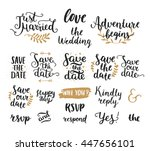 save the date collection with... | Shutterstock . vector #447656101