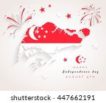 9 august. singapore... | Shutterstock .eps vector #447662191
