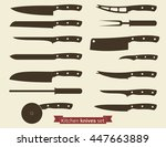 kitchenware. set of knives... | Shutterstock .eps vector #447663889