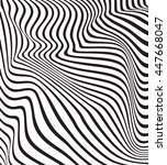 optical art background wave...   Shutterstock .eps vector #447668047