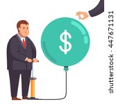 big fat corporation or... | Shutterstock .eps vector #447671131