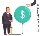 big fat corporation or... | Shutterstock .eps vector #447671131