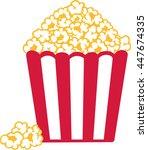 popcorn red white striped | Shutterstock .eps vector #447674335
