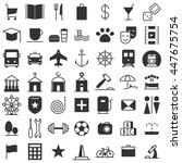 city map icons big set....