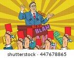 distrust of politics  a red... | Shutterstock .eps vector #447678865