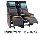 airplane chairs textiles with... | Shutterstock . vector #447689557