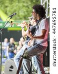 Small photo of Amsterdam, The Netherlands - July, 3 2016: concert of alternative Algerian band Djmawi Africa at Amsterdam Roots Open Air, free public cultural festival held in Oosterpark