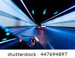 blurry chromatic color tunnel... | Shutterstock . vector #447694897