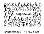collection of hand drawn... | Shutterstock .eps vector #447695425