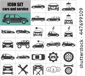 cars and service icons. | Shutterstock .eps vector #447699109
