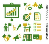 project  management icon set | Shutterstock .eps vector #447702589