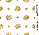 Seamless Pattern With Golden...