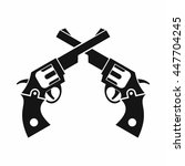 revolvers icon in simple style... | Shutterstock . vector #447704245