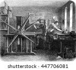 workshop printers intaglio ... | Shutterstock . vector #447706081