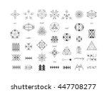 sacred geometry. set of minimal ... | Shutterstock .eps vector #447708277