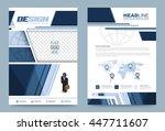 dark blue annual report... | Shutterstock .eps vector #447711607