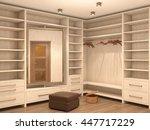 empty white dressing room ... | Shutterstock . vector #447717229