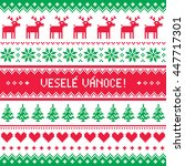 vesele vanoce greetings card  ... | Shutterstock .eps vector #447717301