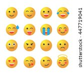 emoticon set. collection of...   Shutterstock .eps vector #447719041