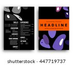 abstract background with liquid ... | Shutterstock .eps vector #447719737