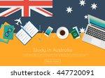 study in australia concept for... | Shutterstock .eps vector #447720091
