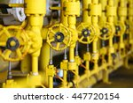 valves manual in the production ... | Shutterstock . vector #447720154