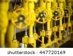 valves manual in the production ... | Shutterstock . vector #447720169