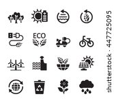 ecology icon set 7  vector... | Shutterstock .eps vector #447725095