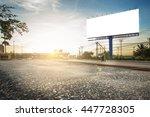 billboard blank for outdoor... | Shutterstock . vector #447728305