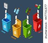 waste management isometric... | Shutterstock .eps vector #447731377