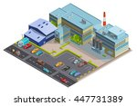 factory composition of...   Shutterstock .eps vector #447731389