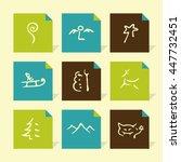 vector flat icons set  ... | Shutterstock .eps vector #447732451