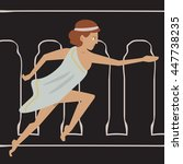 ancient female athlete running | Shutterstock .eps vector #447738235