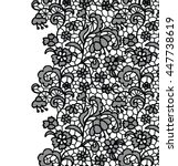 seamless lace border. vector... | Shutterstock .eps vector #447738619