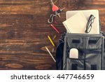 business office supplies on... | Shutterstock . vector #447746659