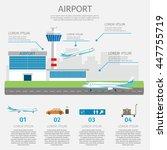 airport passenger terminal and...   Shutterstock .eps vector #447755719