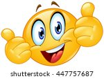 emoticon showing thumbs up | Shutterstock .eps vector #447757687