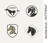 Stock vector horse logo set 447759967