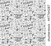 computer games seamless... | Shutterstock .eps vector #447764287