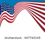 american flag background  usa... | Shutterstock .eps vector #447765145